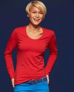 Damen Shirt longsleeve stretch