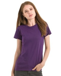 Damen T-Shirt Rundhals mit Paspel