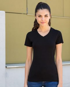 Damen T-Shirt Feel Good V-Ausschnitt stretch