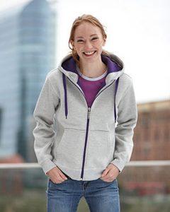 Damen Fleece-Jacke bicolor